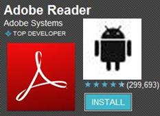 Download Official Adobe app reader for Android Reads Digital Business Card Social Media Grids